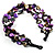 3 Strand Purple & Black Shell - Composite Bead Necklace - view 6