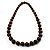 Animal Print Wooden Bead Necklace (Brown & Black) - 70cm L - view 8