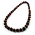 Animal Print Wooden Bead Necklace (Brown & Black) - 70cm L - view 9