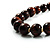 Animal Print Wooden Bead Necklace (Brown & Black) - 70cm L - view 13