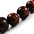 Animal Print Wooden Bead Necklace (Brown & Black) - 70cm L - view 5
