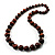 Animal Print Wooden Bead Necklace (Brown & Black) - 70cm L - view 10