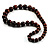 Animal Print Wooden Bead Necklace (Brown & Black) - 70cm L - view 7