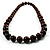 Animal Print Wooden Bead Necklace (Brown & Black) - 70cm L - view 11