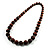 Animal Print Wooden Bead Necklace (Brown & Black) - 70cm L - view 14