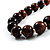 Animal Print Wooden Bead Necklace (Brown & Black) - 70cm L - view 4