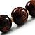 Animal Print Wooden Bead Necklace (Brown & Black) - 70cm L - view 6