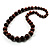 Animal Print Wooden Bead Necklace (Brown & Black) - 70cm L