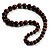 Animal Print Wooden Bead Necklace (Brown & Black) - 70cm L - view 15