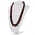 Animal Print Wooden Bead Necklace (Brown & Black) - 70cm L - view 3