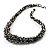 Black & White Chunky Glass Bead Necklace - 60cm Long