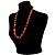 Long Graduated Wooden Bead Colour Fusion Necklace (Light Brown & Black) - 64cm L - view 5