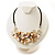 Antique White Shell-Composite Leather Cord Necklace - view 5