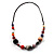 Long Resin & Ceramic Bead Cotton Cord Necklace (Multicoloured) - 70cm L - view 7