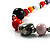 Long Resin & Ceramic Bead Cotton Cord Necklace (Multicoloured) - 70cm L - view 2