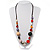 Long Resin & Ceramic Bead Cotton Cord Necklace (Multicoloured) - 70cm L - view 4