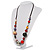 Long Resin & Ceramic Bead Cotton Cord Necklace (Multicoloured) - 70cm L - view 9