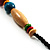 Multicoloured Wood Bead Cotton Cord Necklace - 60cm L - view 11