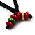 Multicoloured Wood Bead Cotton Cord Necklace - 60cm L - view 7