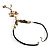 Antique White Shell Composite Floral Tassel Leather Cord Necklace - view 8