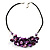 Purple Shell-Composite Leather Cord Necklace - view 2