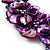 Purple Shell-Composite Leather Cord Necklace - view 4