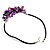 Purple Shell-Composite Leather Cord Necklace - view 7