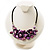 Purple Shell-Composite Leather Cord Necklace - view 3