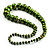 Long Graduated Wooden Bead Colour Fusion Necklace (Green & Black) - view 4