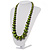 Long Graduated Wooden Bead Colour Fusion Necklace (Green & Black) - view 8
