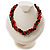 4 Strand Twisted Glass And Ceramic Choker Necklace (Black, Carrot Orange & Metallic Silver) - 48cm L - view 3