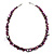 Purple Bead & Shell Long Necklace (Burn Silver Tone) - view 8