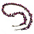 Purple Bead & Shell Long Necklace (Burn Silver Tone) - view 5