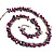 Purple Bead & Shell Long Necklace (Burn Silver Tone) - view 6