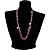 Purple Bead & Shell Long Necklace (Burn Silver Tone) - view 7