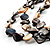 3 Strand Antique White & Black Shell - Composite Bead Necklace - view 6