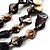 3 Strand Antique White & Black Shell - Composite Bead Necklace - view 4