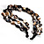 3 Strand Antique White & Black Shell - Composite Bead Necklace - view 7