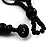 3 Strand Antique White & Black Shell - Composite Bead Necklace - view 8