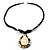 Teardrop Mother of Pearl Cotton Cord Pendant Necklace - view 4