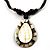Teardrop Mother of Pearl Cotton Cord Pendant Necklace