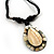 Teardrop Mother of Pearl Cotton Cord Pendant Necklace - view 6