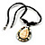 Teardrop Mother of Pearl Cotton Cord Pendant Necklace - view 2