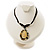 Teardrop Mother of Pearl Cotton Cord Pendant Necklace - view 3