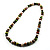 Wood Bead Necklace (White, Brown, Green & Black) - 74cm Length - view 8