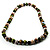 Wood Bead Necklace (White, Brown, Green & Black) - 74cm Length - view 9