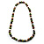 Wood Bead Necklace (White, Brown, Green & Black) - 74cm Length - view 10