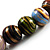 Wood Bead Necklace (White, Brown, Green & Black) - 74cm Length - view 4