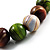 Wood Bead Necklace (White, Brown, Green & Black) - 74cm Length - view 5