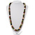 Wood Bead Necklace (White, Brown, Green & Black) - 74cm Length - view 2